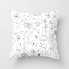 Miscellaneous flowers Throw Pillow by lauryngrafica Red Cushions, Designer Throw Pillows, Pillow Cases, Flowers, Toss Pillows, Red Pillows, Royal Icing Flowers, Flower, Florals