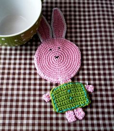 Easter Bunny - Crochet Coaster