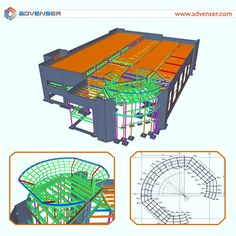 A 57000 sq.ft. fitness club project done by Advenser. The scope of work was to model steel elements (main structural steel, precast panel connections and misc. steel) using Tekla Structures and to extract the drawings and reports to facilitate the construction of steel structure.  #engineering #construction #steeldetailing #tekla #cad #buildinginformationmodeling #structure