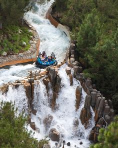 Disney's California Adventure Grizzly River Run!! This is one of my favourite rides in Disneyland! It's also fun to watch all the team boats go by and everyone's reaction to the ride(: