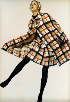 1960s cape and skirt combo by Pierre Cardin; I love capes! I like the idea of having a matching skirt