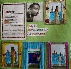 Pintores famosos: Dalí para niños. Puzzles, cuadros para colorear, vídeos, cuentos, fotos y retratos...