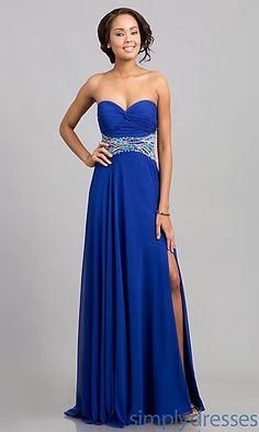 Stock Blue Chiffon sleeveless backless dress Prom evening Deb Ball ...