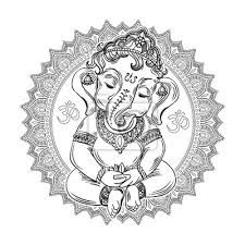 Ganesha on the ornate mandala pattern background. fashion tattoo motives of the spirituality of the east. coloring for adults. Mandala Pattern, Mandala Design, Mandala Art, Adult Coloring, Coloring Books, All Animals Images, Texas, Ganesha, Cool Pets