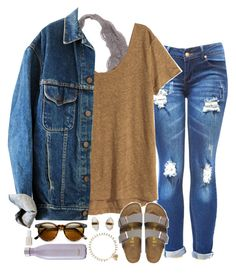 """""""what do y'all think of my recent sets?"""" by sarahc01 ❤ liked on Polyvore featuring H&M, Birkenstock, Better Late Than Never, Isabel Marant, S'well and Essie"""