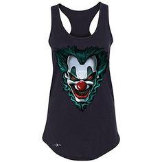 Freakshow Joker Clown Scary Women's Racerback Halloween Eve Costume Sleeveless Black XX-Large - Brought to you by Avarsha.com