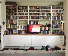 Diy bookshelves for small spaces farmhouse bookshelf entertainment floating above home decor row screen bookcase for . diy bookshelves for small spaces Ikea Hack Bookcase, Built In Bookcase, Bookcases, Bookshelf Ideas, Bookcase Door, Bookshelves For Small Spaces, Armoire, Billy Ikea, Bookshelves In Living Room