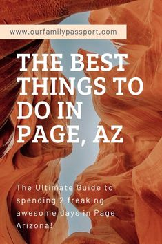 Page Arizona is one of the top destinations in the United States! If you are even thinking about traveling to Arizona do not miss the BEST things to do in Page AZ! Click now and start your epic adventure today! #arizona #usatravel #familytravel Usa Travel Guide, Travel Usa, Travel Guides, Travel Tips, Stuff To Do, Things To Do, Good Things, Page Az, Arizona Travel