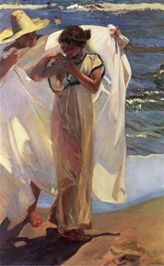 After the Bath - Joaquín Sorolla - Completion Date: 1908