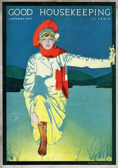 Coles Phillips for the cover of Good Housekeeping magazine, Jan 1917
