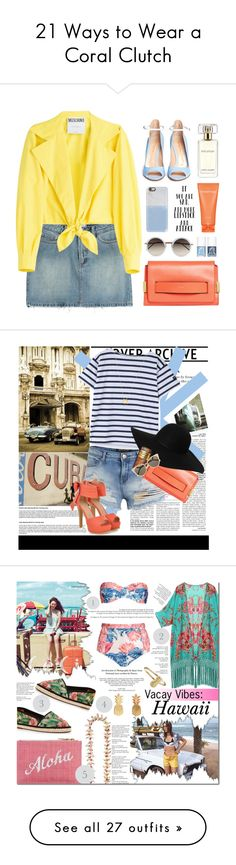"""""""21 Ways to Wear a Coral Clutch"""" by polyvore-editorial ❤ liked on Polyvore"""