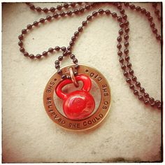Glass Kettle Bell Crossfit Necklace - Fit Life