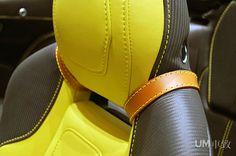 Virage Aston Martin matte black, grey with yellow and black interior