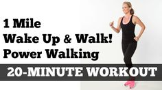 "1 Mile Walk Fast | Low Impact Indoor Power Walking Workout ""Wake Up and ..."