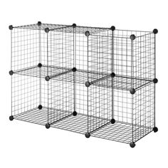 New Essential Home 6 Cube Wire Storage Unit Set
