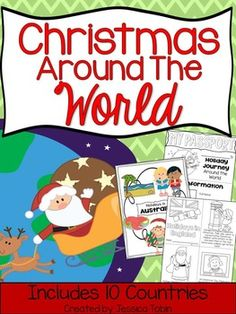 Christmas Around the World-In this unit, you will find different Christmas Around the World activities to teach diversity with Christmas/Hanukkah.  I cover 10 different countries in this pack (America, Australia, Brazil, England, France, Germany, Israel, Mexico, Netherlands, Sweden).