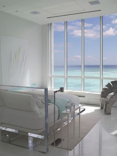 A view of the ocean from your bed... a girl can dream.