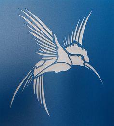 Pochoir de Colibri par kraftkutz sur Etsy