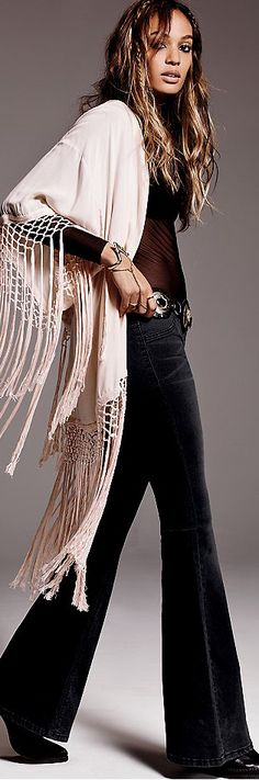 Free People Aug 2014....hippie style...love the flared pant led and vest....just jump into my closet.