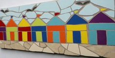 Just Mosaics - beach huts by Felicity
