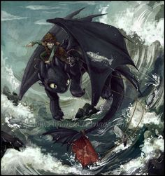 HTTYD - Fishing Lessons by *ArmadaRyu on deviantART