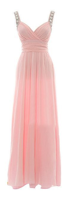 Prom Gown With Straps Beaded Petal Pink Maxi Prom Dress Backless Dresses