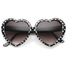 Heart+Shaped+Sunglasse | Womens Cute Polka Dot Heart Shaped Fashion Sunglasses 8982 | zeroUV