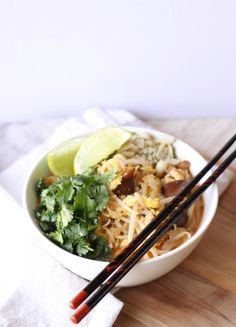 Pad Thai Inspired Soup - This is delicious and perfect for these cold nights!