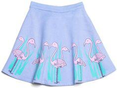 Flamingo skater skirt
