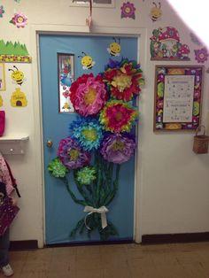 Spring classroom door.
