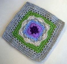 "Ravelry: Project Gallery for Amys Square- Approx. 8"" Square Pattern pattern by Julee Reeves"