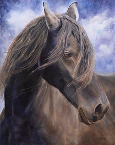 Dreamer  Horse Equine Painting Art print by by MarinaPetroFineArt, $35.00