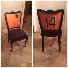Sports chair, Cruijff, soccer, home decoration, retro, DIY, do it yourself