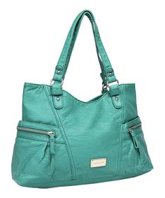 $53, 9 may 2014. Look what I found on #zulily! Turquoise Karla Tote by Franco Sarto #zulilyfinds