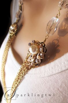 Gorgeous multi layered chain necklace