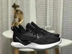 b8c04d8adb33d 2018 Really Cheap Adidas AlphaBounce HPC AMS 3M Black White Shoe