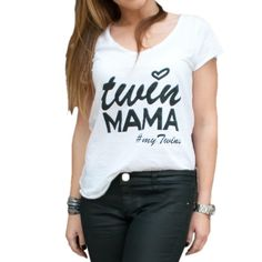 Have you seen our Twin Mama t-shirt? Perfect for all day style for all super Twin Mums out there! 💕