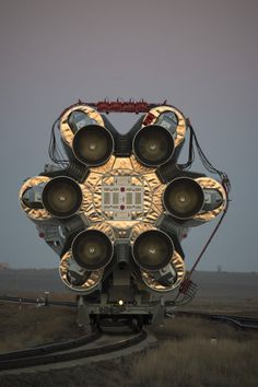 The Proton rocket, that will launch the ExoMars 2016 spacecraft to Mars, is transfered to the pad of the launch complex at the Baikonur spaceport, Kazakhstan, on 11 March 2016. Launch is scheduled for 09:31 GMT on 14 March 2016.