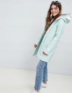 Buy ASOS DESIGN Borg High Shine Rain Jacket at ASOS. Get the latest trends with ASOS now. Fashion Online, Fitness Models, Rain Jacket, Maternity, Coat, Jackets, Design