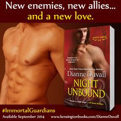 Don't miss out Dianne Duvall's NIGHT UNBOUND! #ImmortalGuardians http://kensingtonbooks.com/dianneduvall