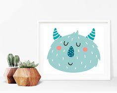 Critter Face Print - Monster Print, Printable Wall Art, 8x10 Kids Print, 8x10 Nursery Print, Printable Home Decor, Kids Decor, Kids Bedroom by creamcityprintables on Etsy https://www.etsy.com/listing/536002719/critter-face-print-monster-print