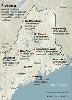 Maine lawmakers debate redrawn mining regulations sought by a Canadian conglomerate. http://on.wsj.com/1DOe5Gr
