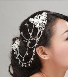 wedding Bride hair clip crystal Rhinestone double Butterfly Bridal Jewelry Hair