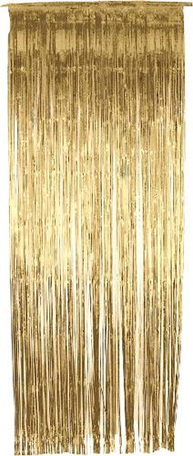 £3.49 Gold Metallic Shimmer Curtain 3ft x 8ft - Single Image