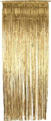 £3.49 Gold Metallic Shimmer Curtain 3ft x 8ft - Single Image
