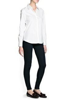 MANGO - CLOTHING - Tops - Cotton fitted shirt