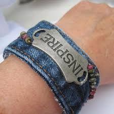 Resultado de imagem para denim wrist cuffs