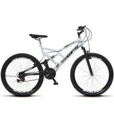 3cde684a3 Bicicleta Aro 26 Full-s GPS Aero Dupla Suspensão Branco - Colli Bikes