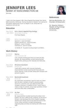 [ Nanny Skills Resume Sample Job Samples Amp Writing Tips Companion ] - Best Free Home Design Idea & Inspiration Sample Resume Templates, Job Resume Samples, Resume Template Free, Free Resume Examples, Resume Objective Examples, Resume Ideas, Babysitter Resume, Job Letter, Administrative Assistant Resume