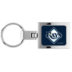 Tampa Bay Devil Rays Domed Metal Keychain